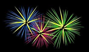 fuochi d artificio clipart tre fuochi d artificio di colore clipart vector clipart vettoriali