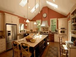 kitchen vaulted ceiling textured glass countertop with light