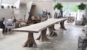 ginkgo slab multi root dining table mecox gardens