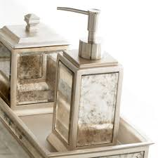 palazzo antique mirrored bath accessories