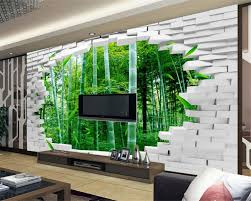 compare prices on bamboo forest wall mural online shopping buy beibehang 3d brick wall bamboo forest tv backdrop 3d wallpaper decorative painting room bedroom murals wallpaper