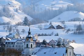 Winter Houses by Wallpapers Alps Winter Mountains Cities Building