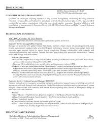 examples of cover letters for resumes for customer service a