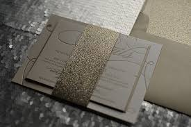 wedding invitations glitter real wedding april and chris gold and glitter wedding invitation