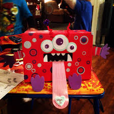 monster valentines day box diy pinterest monsters box
