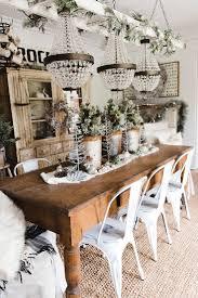 rustic glam farmhouse christmas dining room farmhouse christmas
