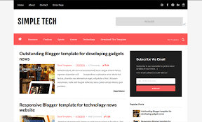 simple tech blogger template high quality free blogger templates