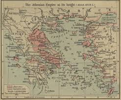 True Map Of The World Of The Athenian Empire 450 Bc