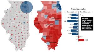 Chicago Il Map by Illinois Presidential Vote Results By County Chicago Tribune