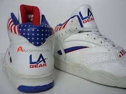 la light up shoes l a gear double lace kareem abdul jabbar og vintage basketball shoes