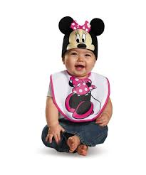 Mickey Mouse Toddler Costume Pink Minnie Mouse Bib And Hat Baby Costume