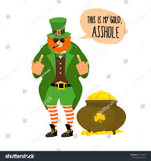 bad leprechaun shows bully red stock vector 381278458