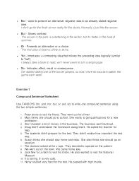 presentation of compound sentences