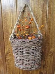 Country Baskets Oval Hanging Basket W Handle Country Baskets Wholesale