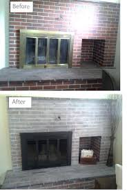 painting brick fireplace ideas redoing painted dark brown red