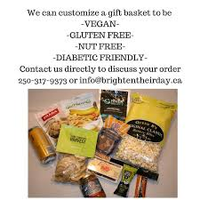 Diabetic Gift Baskets Custom Orders Vegan Gluten Free Diabetic Friendly Nut Free
