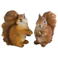 benny beatrice the set of 2 realistic polyresin squirrel