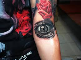 8 eye tattoos on half sleeve