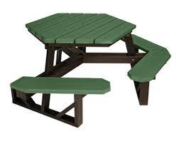recycled plastic picnic tables 6 hexagonal ada recycled plastic picnic table 327