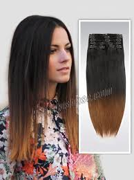 ombre hair extensions uk inch ombre clean and funky clip in hair extensions two tone