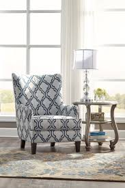 Upholstered Accent Chair Ashley Furniture 7130421 Moroccan Lattice Print Fabric Upholstered