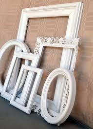 custom order for sarah eight shabby chic antique white frames