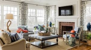 Fresh American Living Room  Fireplace Design Interior Design - American living room design