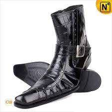 mens italian leather ankle dress boots cw760141