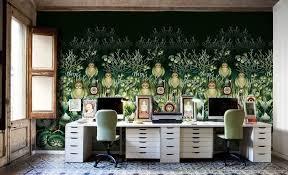 ambiance bureau design interieur decoration bureau ambiance vintage papier peint