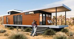 prefab micro house contemporary wooden single story cali