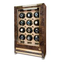 Walnut Wine Cabinet Rapport Paramount Walnut Burl Twelve Watch Winder Cabinet Watch