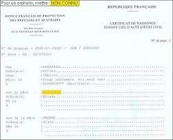 demande acte de mariage formulaires état civil ofpra
