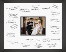 wedding autograph frame signature frame etsy