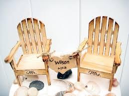 wedding gift hers wedding cake topper chair cake topper adirondack