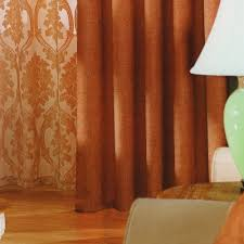 Red Orange Curtains Red Chenille Cheap Nice Curtains For Hoe