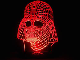 3d Lamps Amazon Darth Vader Led Light Table Lamp Gadget Flow