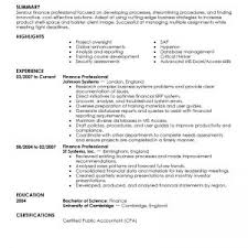 financial resume finance help online academic writing executive