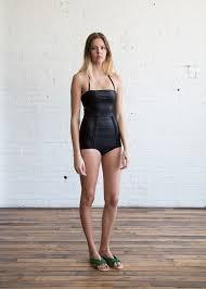 shiny swimsuit a détacher margot swimsuit in shiny black garmentory