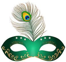 green carnival mask clip art image clipartix