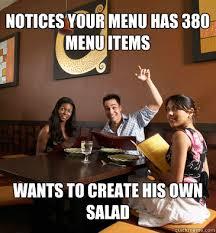 Waitressing Memes - scumbag restaurant customer memes quickmeme