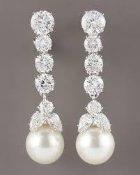 pearl and diamond drop earrings best 25 pearl drop earrings ideas on pearl earrings