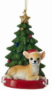 chihuahua tree ornament
