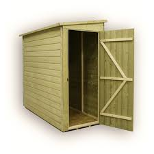 Tongue And Groove Shiplap 3 X 8 Windowless Pressure Treated Tongue And Groove Pent Shed With