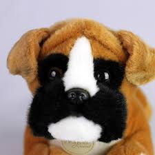 boxer dog mini mini boxer puppy stuffed toy for seniors and people with
