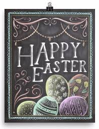 happy easter decorations chalkboard happy easter print easter happy easter and