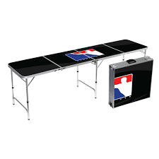 how long is a beer pong table beer pong table bpong logo black tabla01 8ft bpong