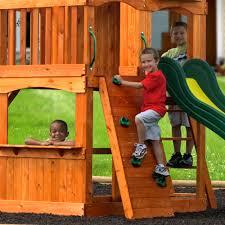 backyard discovery atlantis cedar wooden swing set home outdoor