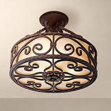 Rustic Ceiling Light Fixture Rustic Lodge Semi Flush Mount To Ceiling Lights Ls Plus