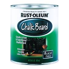 rust oleum 1qt brush on chalkboard paint 206540 specialty
