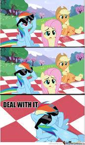 Mlp Rainbow Dash Meme - my little pony deal with it rainbow dash by midnight940 meme center